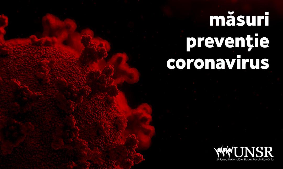 Măsuri prevenție Coronavirus